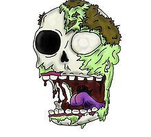 Zombie Skull by ANDY1592