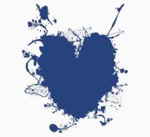 Heart Blue Splat! Tee Baby Tee
