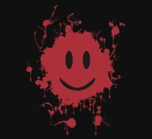 Smiley Red Splat! Tee by BluAlien