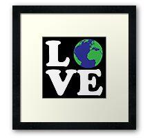 I Love World Framed Print