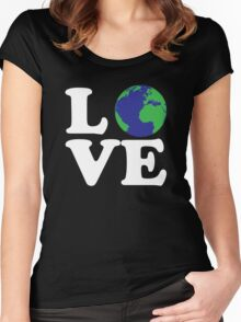 I Love World Women's Fitted Scoop T-Shirt