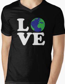 I Love World Mens V-Neck T-Shirt