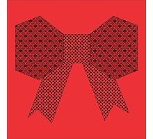Red Fabric Bow Origami Photographic Print