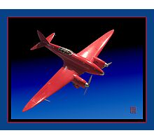 Red Aeroplane Model Photographic Print