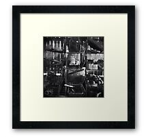 Another Saturday Night In The Serial Killer's Shed Framed Print