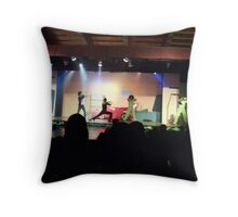 Grease Reenactment, Dominican Style... Throw Pillow