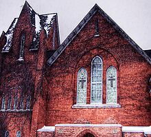 Church in Snowstorm, No. 1 by Max Buchheit