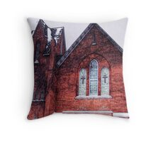 Church in Snowstorm, No. 1 Throw Pillow