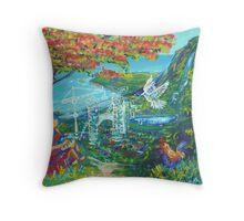 Gods kingdom in Puerto Rico Throw Pillow