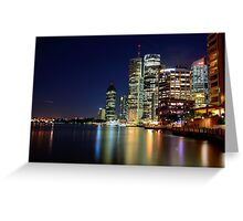 Brisbane CBD from Riverside Greeting Card