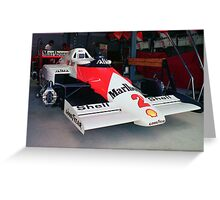 Prost's McLaren MP4 Greeting Card