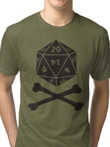 Role Playing d20 Pirate Tri-blend T-Shirt