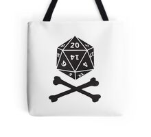 Role Playing d20 Pirate Tote Bag
