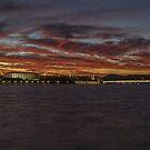 Canberra sky on fire by Kym Bradley