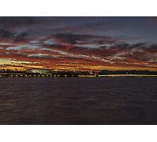 Canberra sky on fire Photographic Print