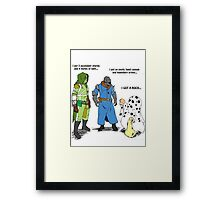 Destiny Humor (peanuts) color Framed Print