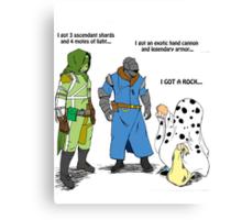 Destiny Humor (peanuts) color Canvas Print