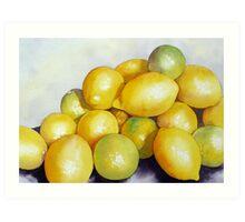 Lemon 'n' Lime Party Art Print