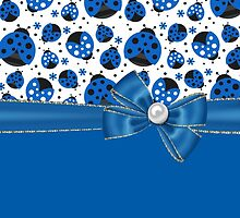 Fun Blue Ladybugs by purplesensation