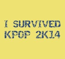 I SURVIVED KPOP 2K14 ROUGH - BLACK Baby Tee