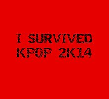 I SURVIVED KPOP 2K14 ROUGH - RED by Kpop Seoul Shop