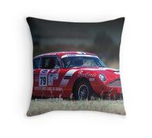 Aston on the track Throw Pillow