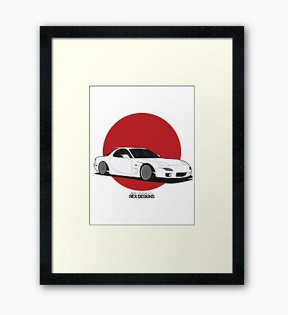 Mazda RX7 (Rising Sun) Framed Print
