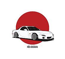 Mazda RX7 (Rising Sun) Photographic Print
