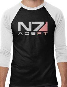 Carbon fiber Adept Men's Baseball ¾ T-Shirt