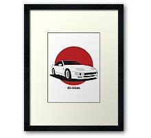 Nissan Fairlady 300ZX Z32 (Rising Sun) Framed Print