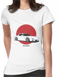 Mazda RX7 (Rising Sun) Womens Fitted T-Shirt