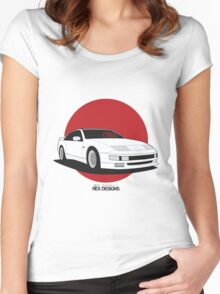 Nissan Fairlady 300ZX Z32 (Rising Sun) Women's Fitted Scoop T-Shirt