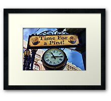 Pub Sign Framed Print
