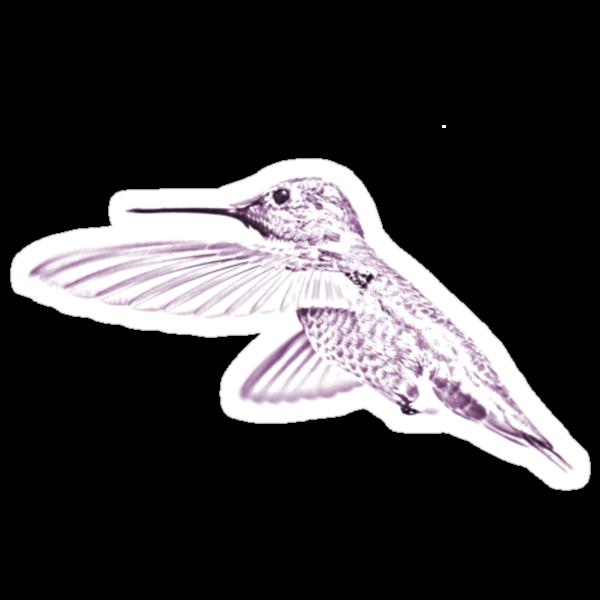 Humming Bird Tee 3 by BluAlien