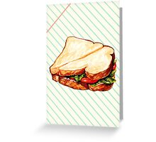 Lunch Room Sandwich Greeting Card