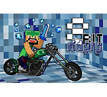 8Bit Riders Photographic Print
