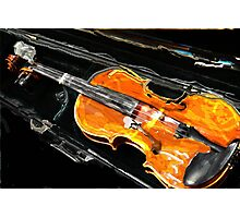 VIOLIN WITH CASE IN ABSTRACT Photographic Print