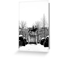 Paul Revere and Boston Snow Greeting Card