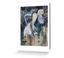Black And White Corset Greeting Card