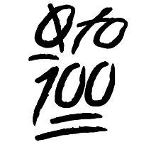 0 To 100 [Black] Photographic Print