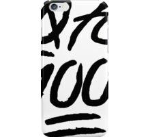 0 To 100 [Black] iPhone Case/Skin