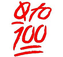 0 To 100 [Red] Photographic Print