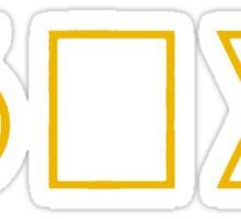 Six Squared [Gold] Sticker