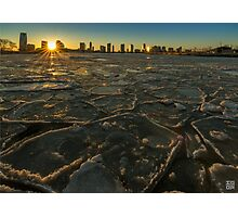 Icy sunset Photographic Print