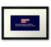 House of Cards Proximity Framed Print