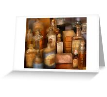 Cough Syrup Greeting Card