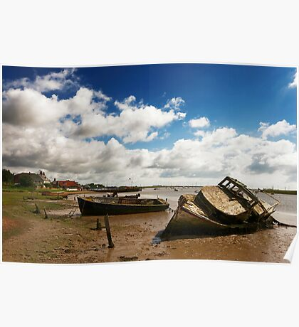 Old Boats at Orford Poster
