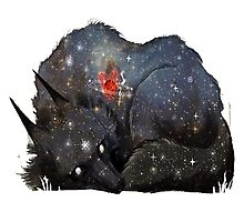 Dreaming Wolf Photographic Print