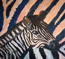 Young Zebra by Matthew Rogers