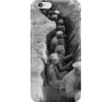 RUSSIAN TROOPS AWAITING A GERMAN ATTACK. This is a typical rear-guard trench, characteristic of the field fortifications of the great retreat. 1917 iPhone Case/Skin